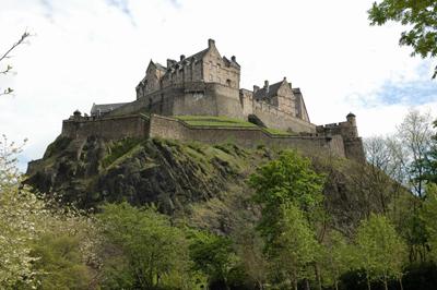 Château d'Edimbourg en Ecosse