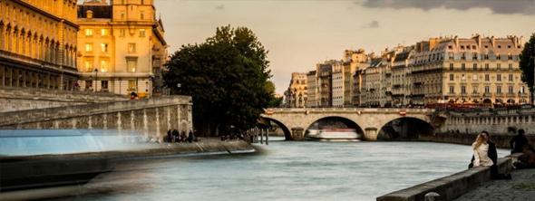 La Seine pendant la nuit