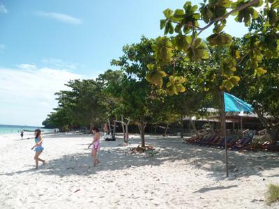 Une superbe plage à l'île des Coraux à proximité de Phuket