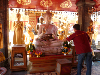 Au temple Doi Suthep à Chiang Mai